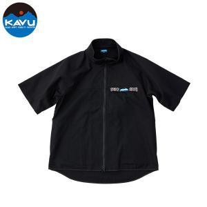 カブー KAVU ショートスリーブ フルジップスローシャツ ブラック|aandfshop