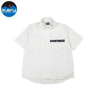 カブー KAVU ショートスリーブ フルジップスローシャツ ホワイト 送料無料|aandfshop