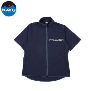 カブー KAVU ショートスリーブ フルジップスローシャツ ネイビー 送料無料|aandfshop