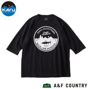 カブー KAVU ワイルドライフ ベースボールTシャツ ブラック/ブラック|aandfshop