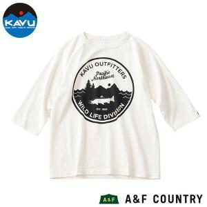 カブー KAVU ワイルドライフ ベースボールTシャツ ホワイト/ホワイト|aandfshop