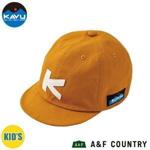 カブー KAVU キッズ ベースボールキャップ マスタード 帽子 キャップ 子供用 aandfshop