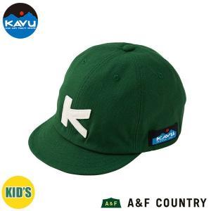 カブー KAVU キッズ ベースボールキャップ グリーン 帽子 キャップ 子供用 aandfshop