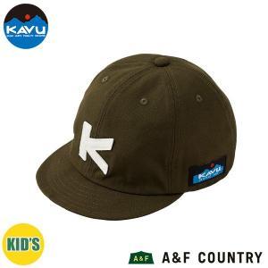 カブー KAVU キッズ ベースボールキャップ カーキ 帽子 キャップ 子供用 aandfshop