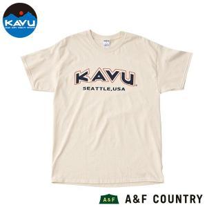 カブー KAVU メンズ スポーツ Tシャツ ナチュラル|aandfshop