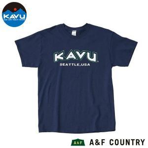 カブー KAVU メンズ スポーツ Tシャツ ネイビー|aandfshop