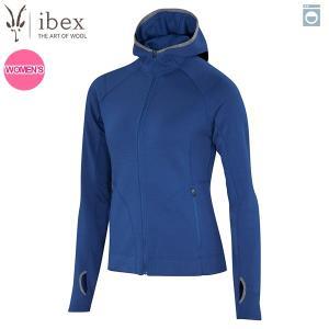 アイベックス ibex Ws シャックスパイアフーディ ブルーグレイシャー 女性用 ウール 送料無料|aandfshop