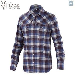 アイベックス ibex Ms タオスプレイドシャツ コースタルプレイド ウール 送料無料|aandfshop