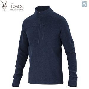 アイベックス ibex Ms スカウトジュラハーフジップ ミッドナイトヘザー ウール 送料無料|aandfshop
