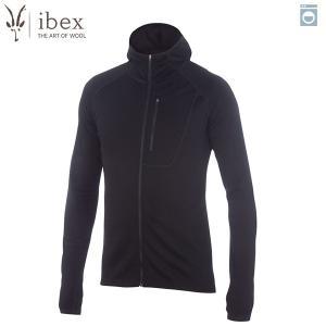アイベックス ibex Ms シャックフードゥーフーディ ブラック ウール 送料無料|aandfshop