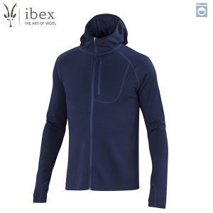 アイベックス ibex Ms シャックフードゥーフーディ ミッドナイト ウール 送料無料|aandfshop