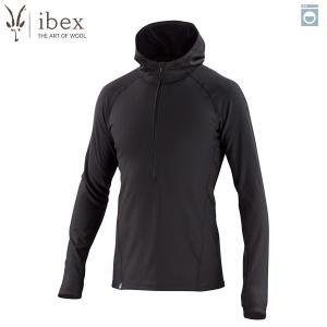 アイベックス ibex Ms ウーリーズ3フーディ ブラック ウール 送料無料|aandfshop