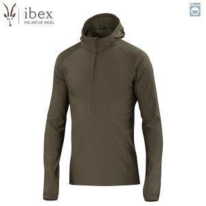 アイベックス ibex Ms ウーリーズ3フーディ エイコーン ウール 送料無料|aandfshop