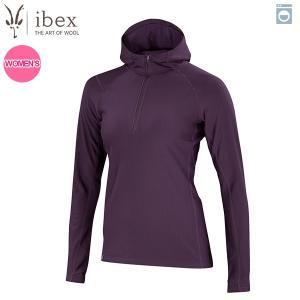アイベックス ibex Ws ウーリーズ3フーディ ウィキッドダーク 女性用 ウール 送料無料|aandfshop
