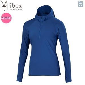アイベックス ibex Ws ウーリーズ3フーディ ブルーグレイシャー 女性用 ウール 送料無料|aandfshop