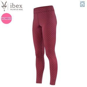 アイベックス ibex Ws ウーリーズ2ボトム フェアアイルパターン ラティス/ウィンターチェリー 女性用 ウール SALE aandfshop