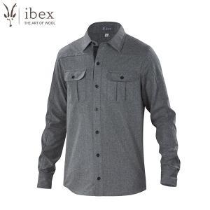 アイベックス ibex Ms ノーススターシャツ チャコールヘザー ウール  送料無料|aandfshop