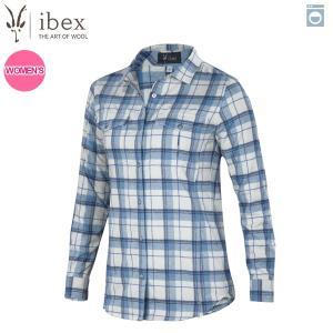 アイベックス ibex Ws タオスプレイドシャツ アルパインプレイド 女性用 ウール 送料無料|aandfshop