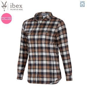 アイベックス ibex Ws タオスプレイドシャツ サドルプレイド 女性用 ウール 送料無料|aandfshop