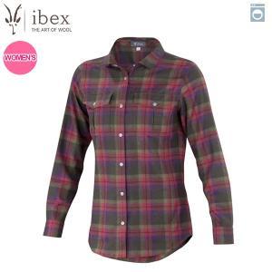 アイベックス ibex Ws タオスプレイドシャツ ホリープレイド 女性用 ウール 送料無料|aandfshop