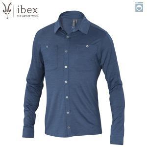 アイベックス ibex Ms ODヘザーシャツ バルティックヘザー ウール 送料無料|aandfshop