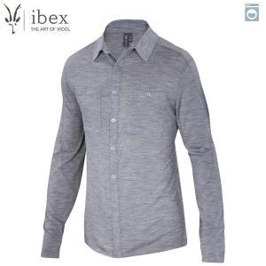 アイベックス ibex Ms ODヘザーシャツ ストーングレーヘザー ウール 送料無料|aandfshop