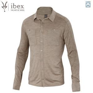 アイベックス ibex Ms ODヘザーシャツ レイヘザー ウール 送料無料|aandfshop