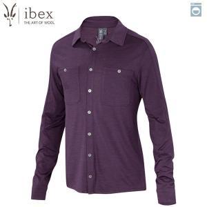 アイベックス ibex Ms ODヘザーシャツ ウィキッドダークヘザー ウール 送料無料|aandfshop