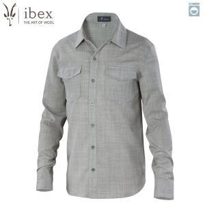 アイベックス ibex Ms ブロメリーシャツ サンドヘザー ウール 送料無料|aandfshop