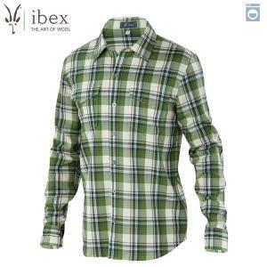 アイベックス ibex Ms ブロメリーシャツ ウッドランドプレイド ウール 送料無料|aandfshop