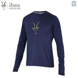 アイベックス ibex Ms アートクルーロングスリーブ ミッドナイト ウール 送料無料|aandfshop