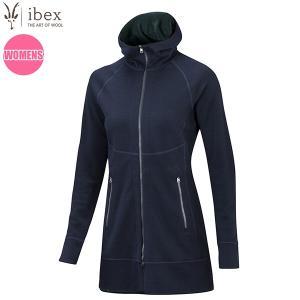 アイベックス ibex Ws ダイヤードロングセーター ブラックネイビー/ベイベリー 女性用 ウール|aandfshop