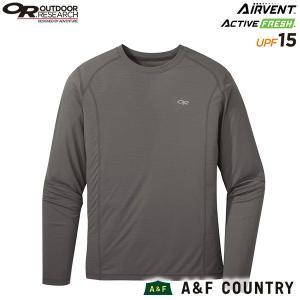 アウトドアリサーチ メンズ エコーロングスリーブTシャツ ピューター OUTDOOR RESEARCH|aandfshop