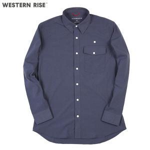 ウエスタンライズ WESTERN RISE Teckロングスリーブシャツ ブルー A&F直営店別注モデル|aandfshop