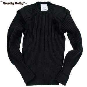 Woolly Pully ウーリープーリー コマンドセーター ブラック 送料無料|aandfshop