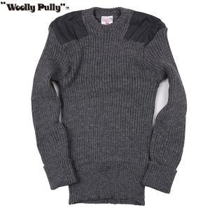 Woolly Pully ウーリープーリー コマンドセーター ダークグレーミックス 送料無料|aandfshop