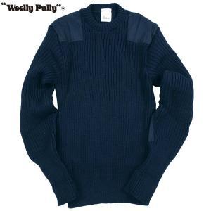 Woolly Pully ウーリープーリー コマンドセーター ネイビー 送料無料|aandfshop