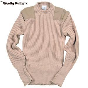 Woolly Pully ウーリープーリー コマンドセーター サンド 送料無料|aandfshop