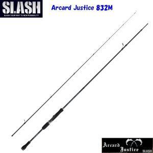 SLASH(スラッシュ)Arcard Justice 832M 2pcs / アーカード ジャスティス 【2ピースエギングロッド】|aarck-yast