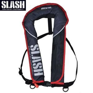 SLASH(スラッシュ)AUTO INFLATABLE LIFE JACKET(BK)/自動膨張式ライフジャケット(ブラック)|aarck-yast