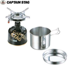 CAPTAIN STAG(キャプテンスタッグ)オーリック小型ガスバーナーコンロ・クッカーセット/M-6400【OD缶ガス式】|aarck-yast