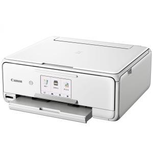 CANON(キヤノン) プリンター インクジェット 複合機 PIXUS TS8130WH (ホワイト...