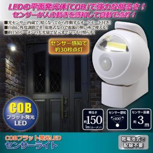 COBフラット発光LEDセンサーライト  aas