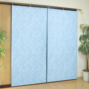 インテリアアート断熱遮熱シート2枚組 リーフ柄 ブルーの商品画像|ナビ