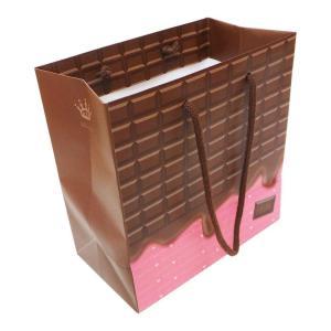 エヒメ紙工 デザインペーパーバッグ Sサイズ 10枚パック チョコ CHO-S-10Pの商品画像|ナビ