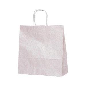 T-6 自動紐手提袋 紙袋 紙丸紐タイプ 320×110×330mm 200枚 フロスティ(ピンク) 1688