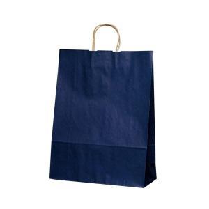 T-12 自動紐手提袋 紙袋 紙丸紐タイプ 380×145×500mm 200枚 カラー(紺) 1449※代引・同梱不可