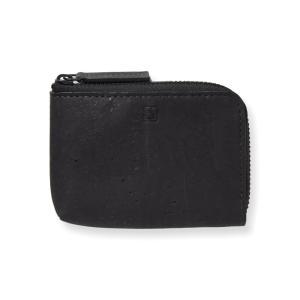 コインケース 黒 コルク製 ビーガン 一年保証|aasha-shop