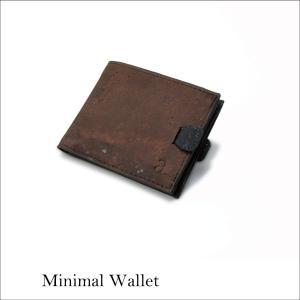 二つ折り財布 ブラウン&ブラック コルク製  一年保証 aasha-shop