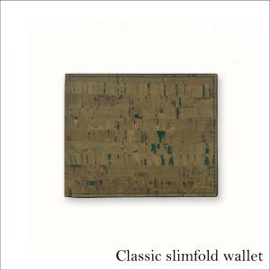 二つ折り財布 Olive コルク製  一年保証|aasha-shop